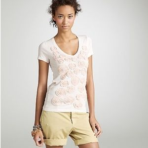 JCrew rosette bouquet tee